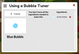 Can't make a Blue Bubble right now