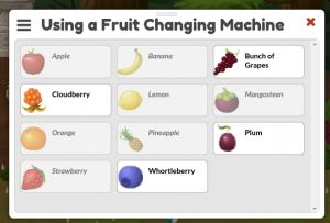 Using a Fruit Changing Machine
